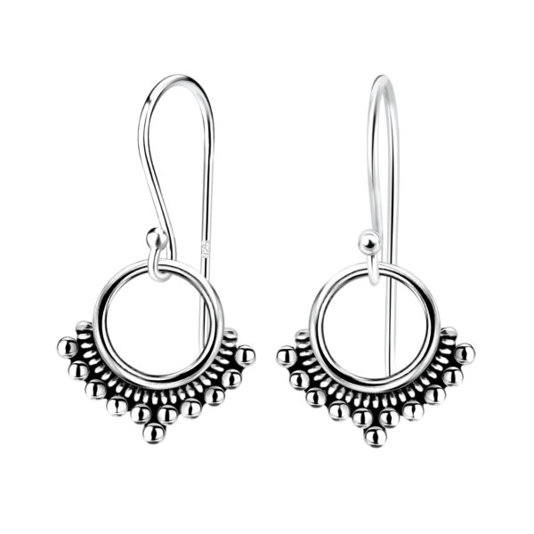 Petite sterling silver circle earrings