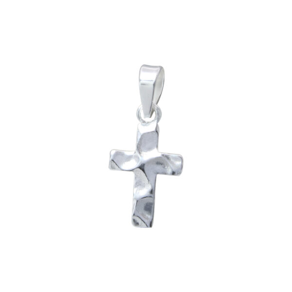hammered sterling silver cross pendant
