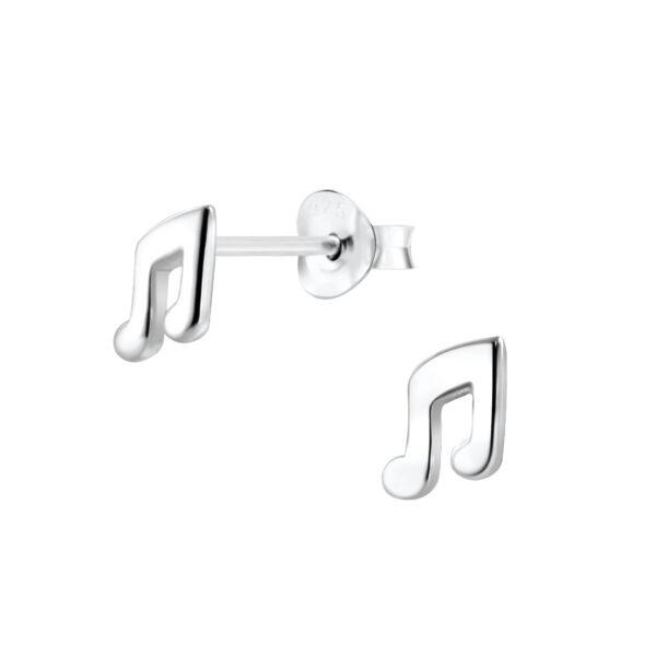 music note stud earrings
