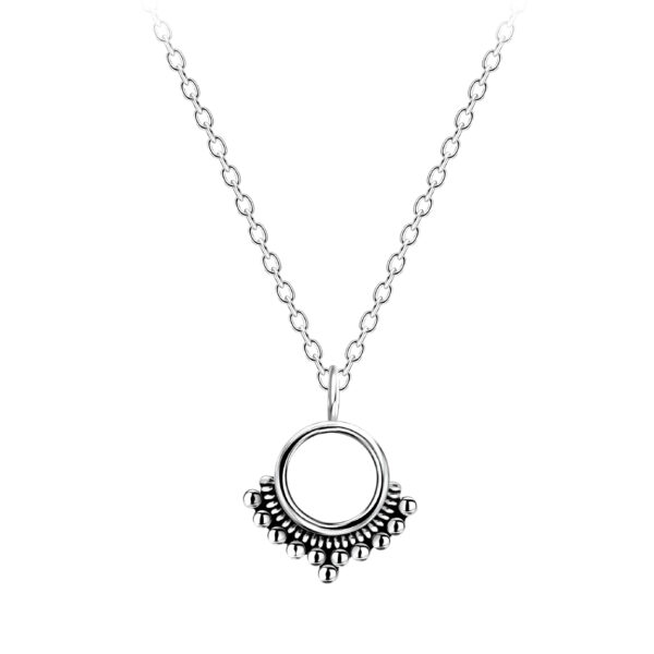 petite sterling silver circle necklace