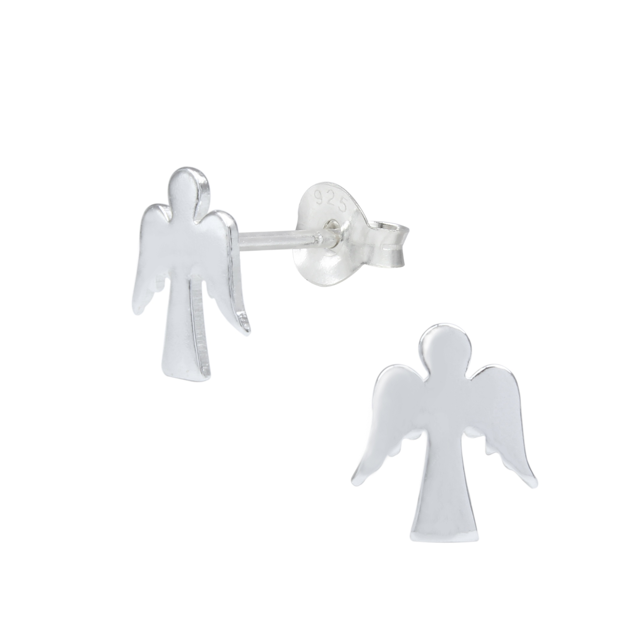 angel sterling silver post earrings