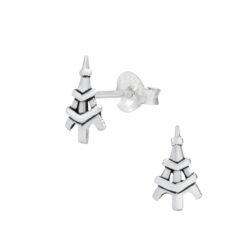 Eiffel Tower Sterling Silver Stud Earrings