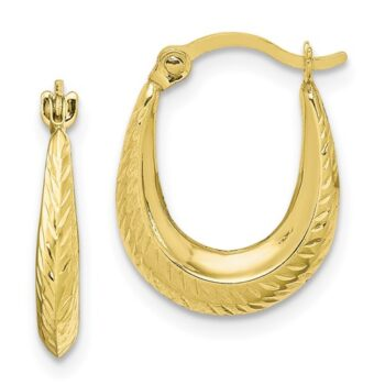 petite textured 10K yellow gold earrings