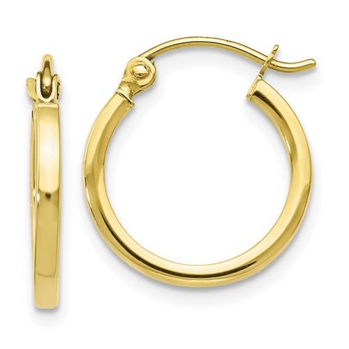 petite 10k yellow gold hoop earrings