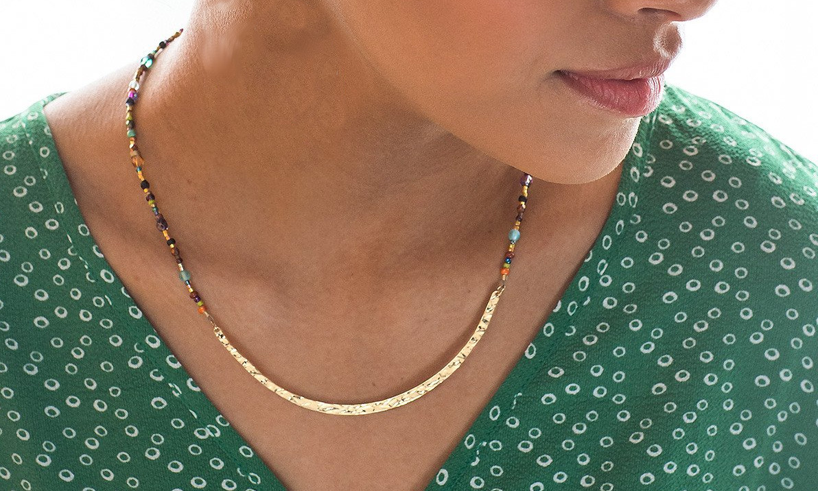 beaded multicolor necklace by Holly Yashi Jewelry