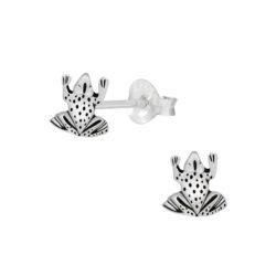 frog sterling silver post earrings