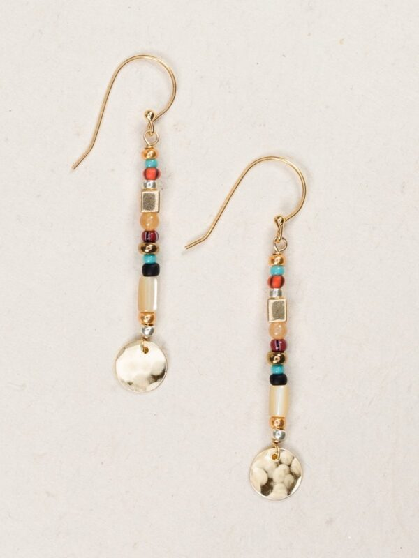 """Equinox stick earrings by jewelry designer Holly Yashi in the color she calls """"harvest"""""""