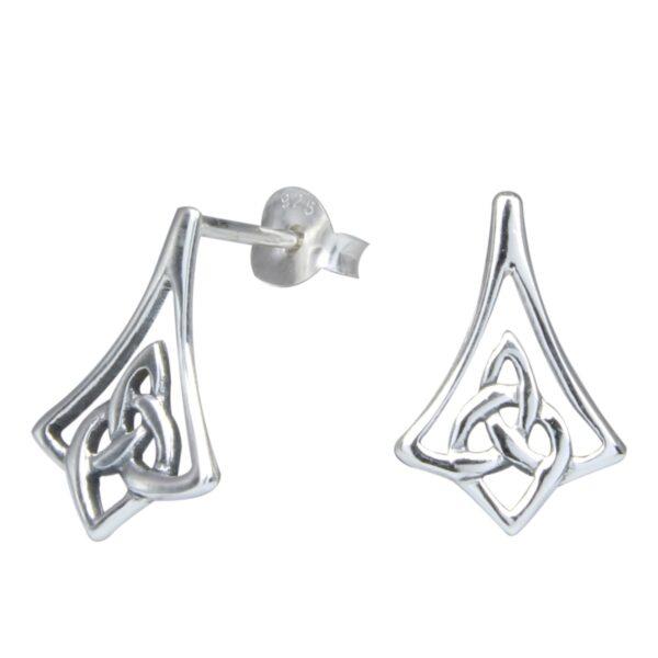 Celtic knot sterling silver post earrings