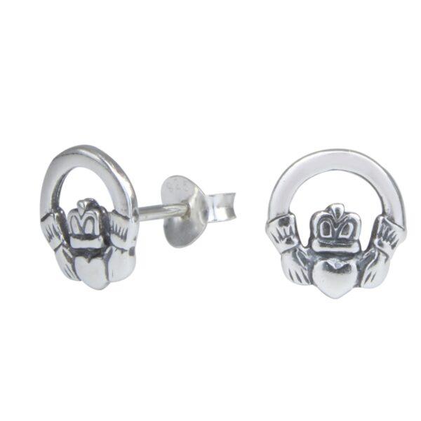 Claddagh nickel-free sterling silver post earrings