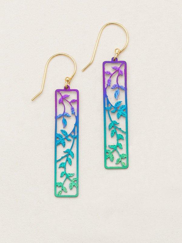 Holly Yashi long leaf earrings