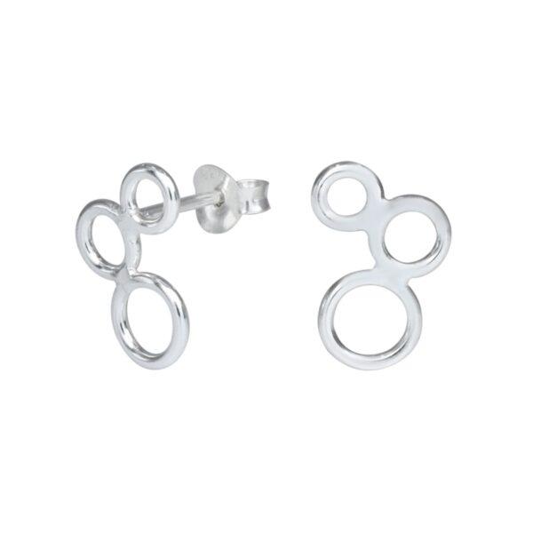 three circle stud earrings