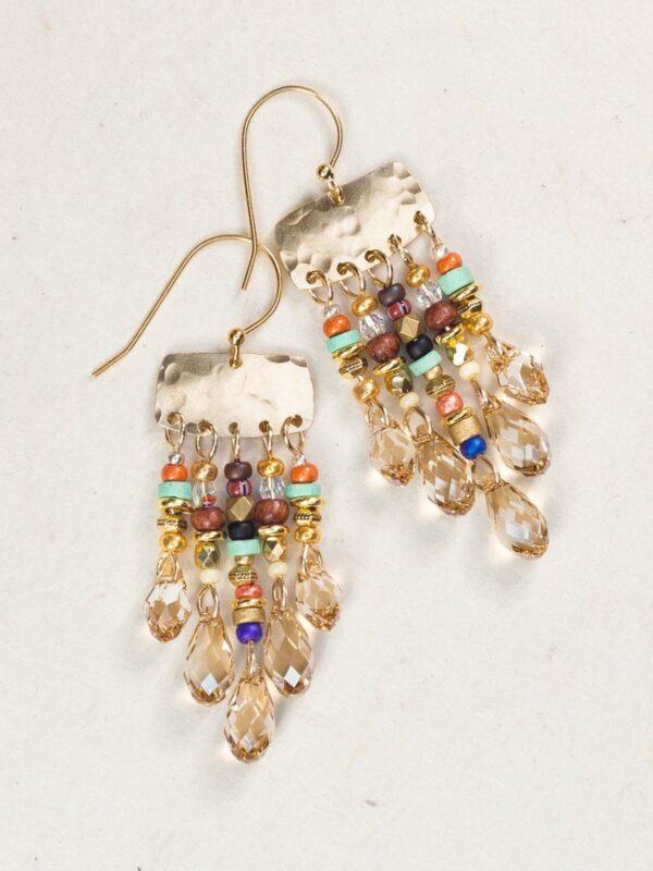 Giselle Beaded Chandelier earrings by Holly Yashi