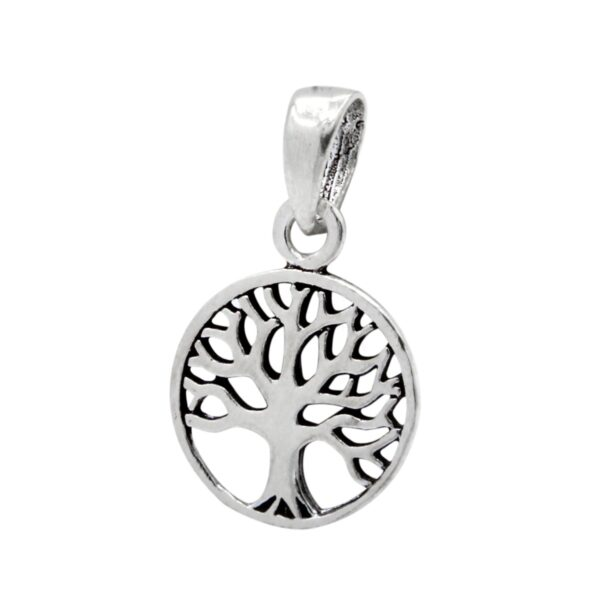 sterling silver petite tree pendant