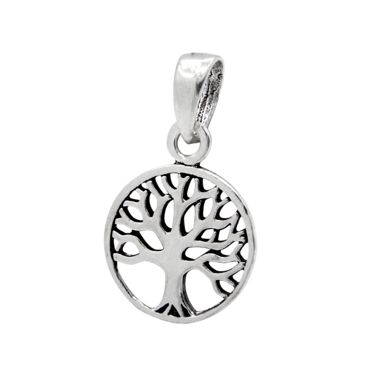 sterling silver petite tree pendant