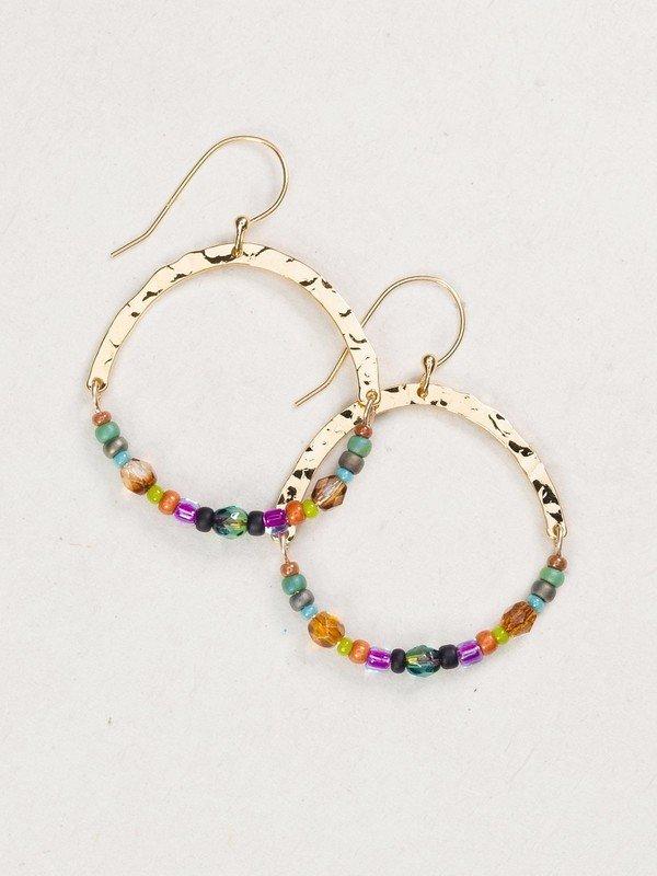 Holly Yashi beaded hoop earrings