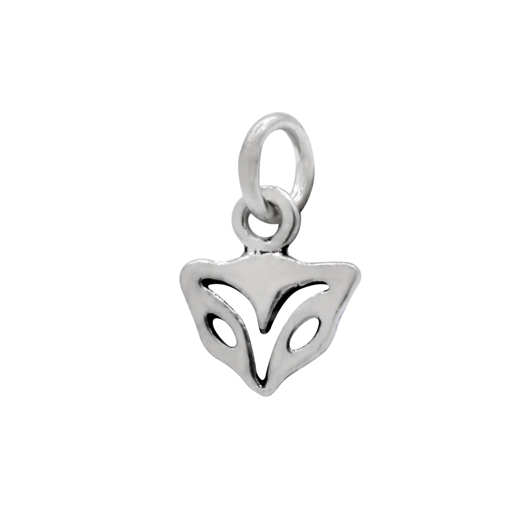 nickel-free sterling silver fox head petite charm