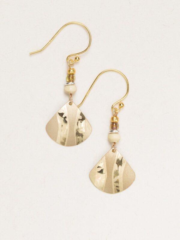 Holly Yashi goldtone earrings