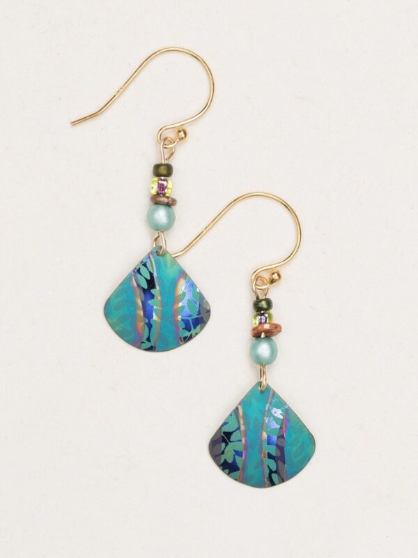 Teal painterly earrings by Holly Yashi