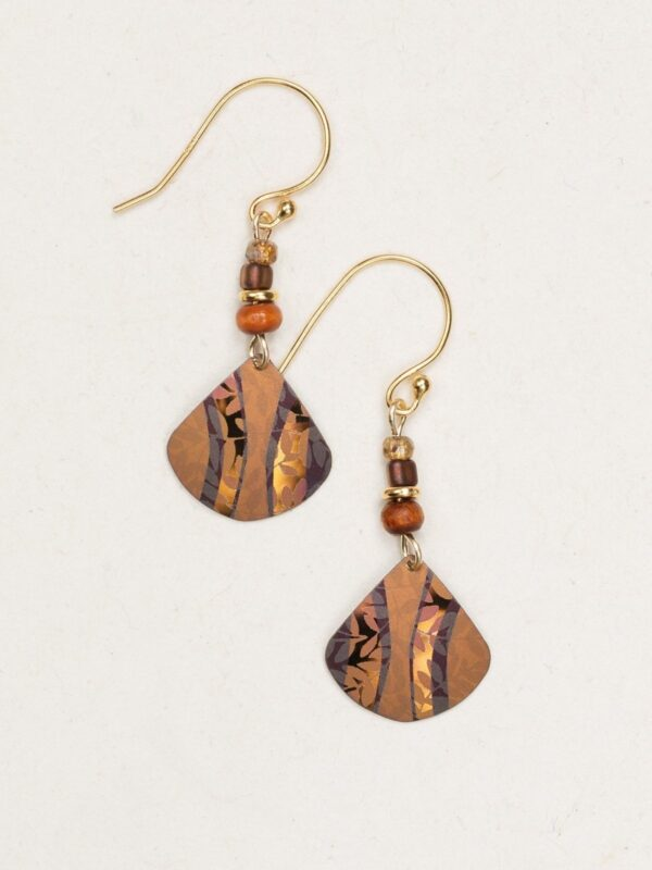 Holly Yashi Painterly Earrings in Amber Wave color