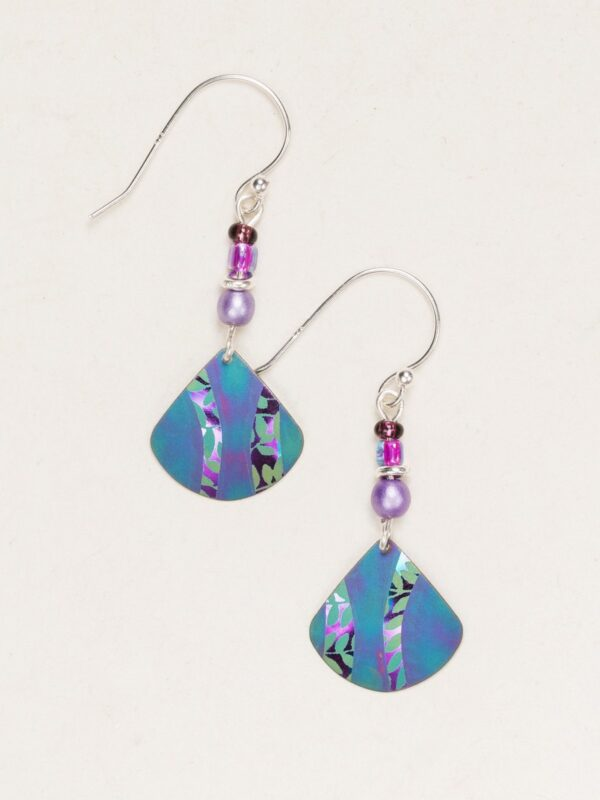 Holly Yashi Painterly earrings in teal and purple