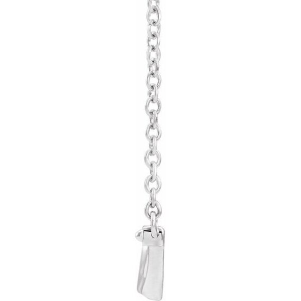 side view of necklace
