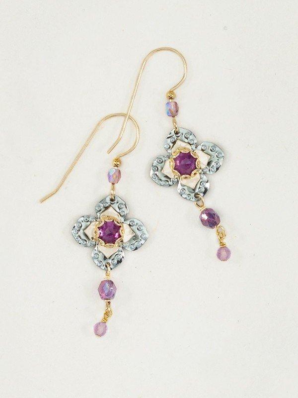 Amethyst Royal Courtship earring by Holly Yashi