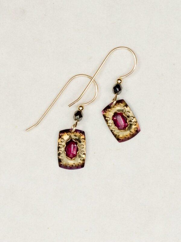 Garnet Shoreline earrings by jewelry designer Holly Yashi