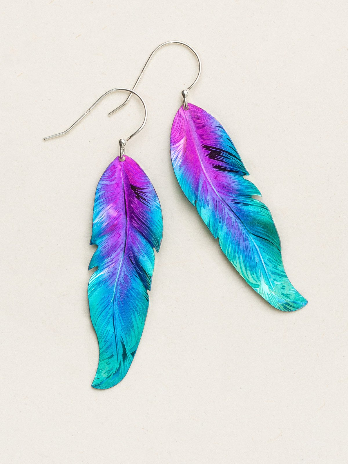 Free Spirit Feather Earrings by jewelry designer Holly Yashi