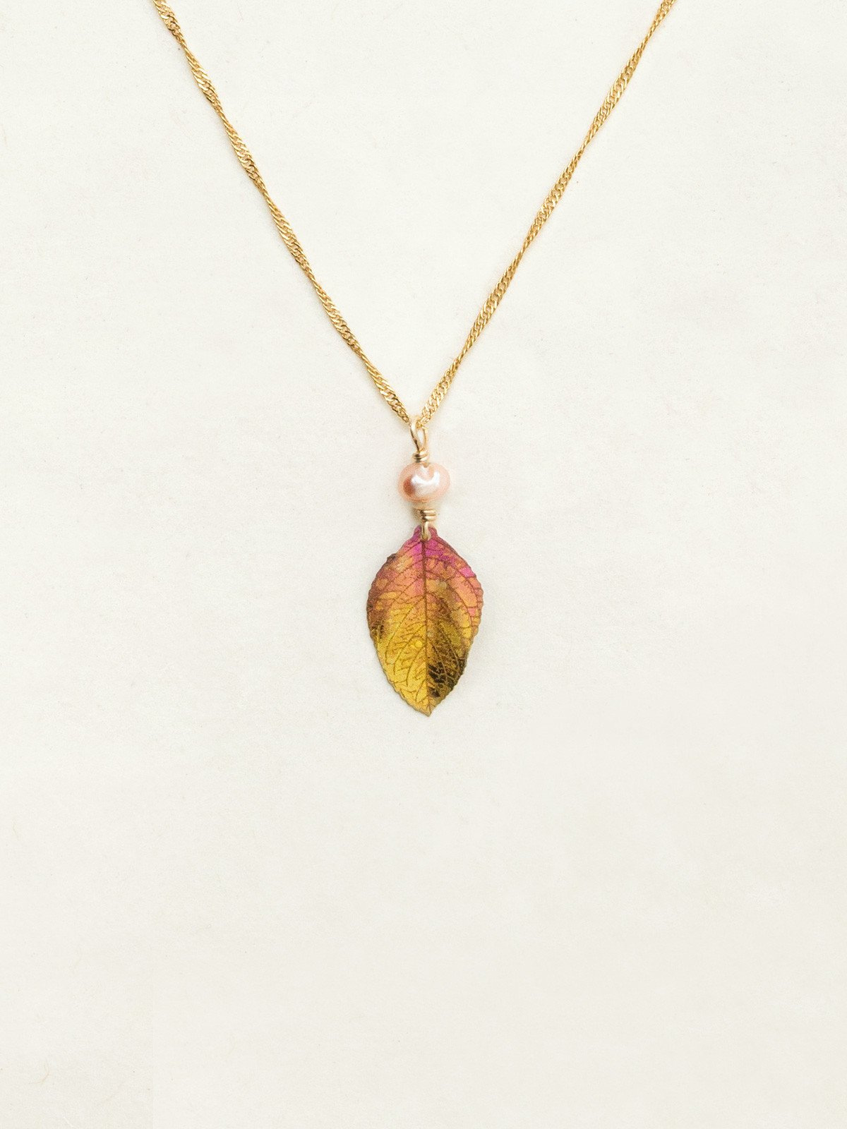 healing leaf necklace by jewelry designer Holly Yashi