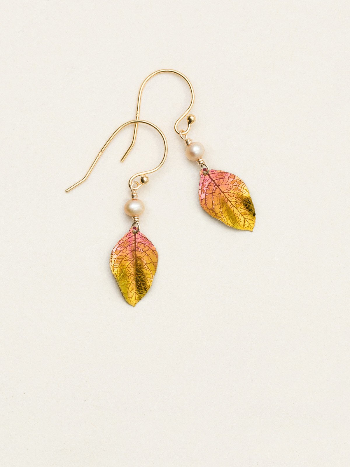 leaf earrings by Holly Yashi Jewelry