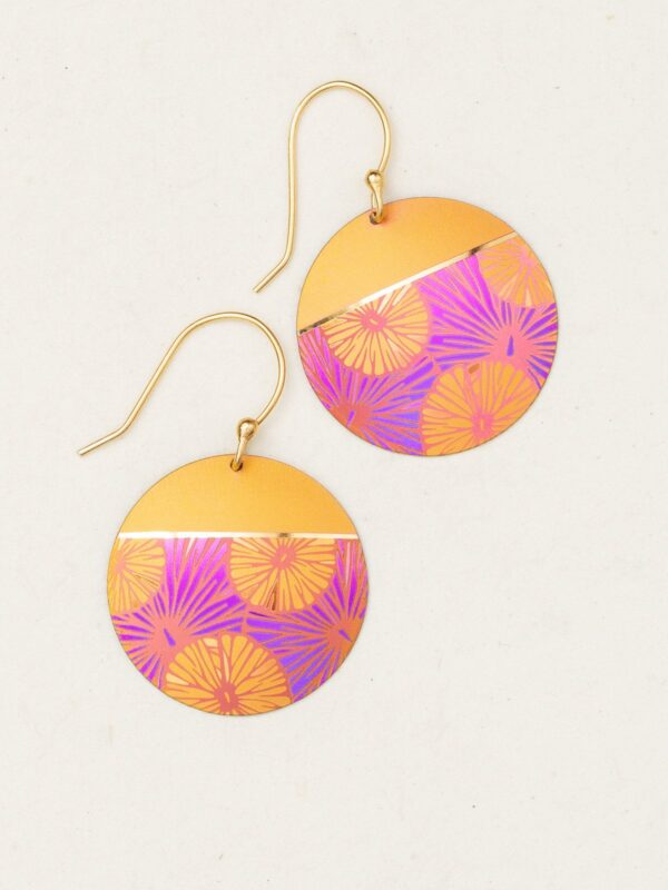 Mod Flower Circle earrings by Holly Yashi Jewelry