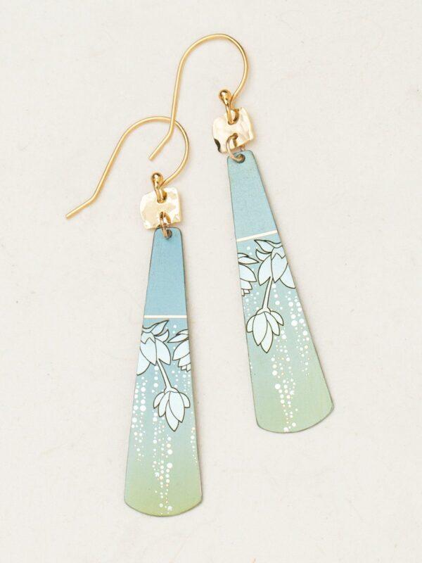 long green Tula earrings by jewelry designer Holly Yashi