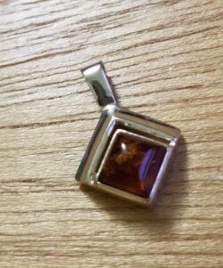 amber square pendant