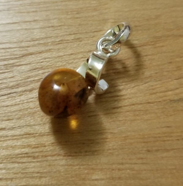 amber sphere pendant