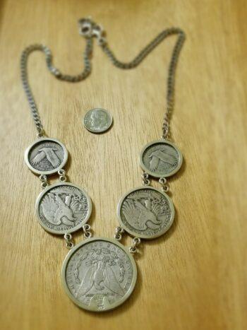 back of vintage coin necklace