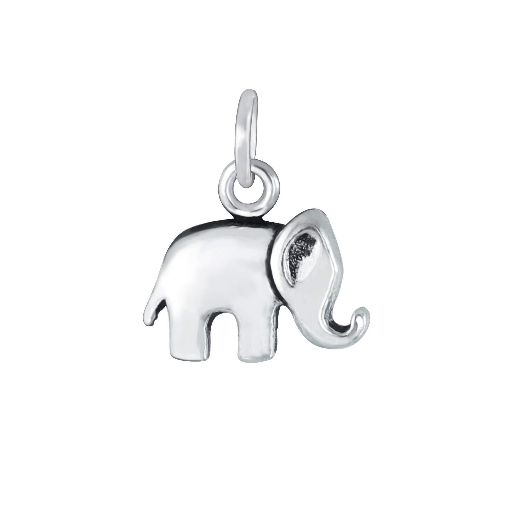 sterling silver petite elephant charm