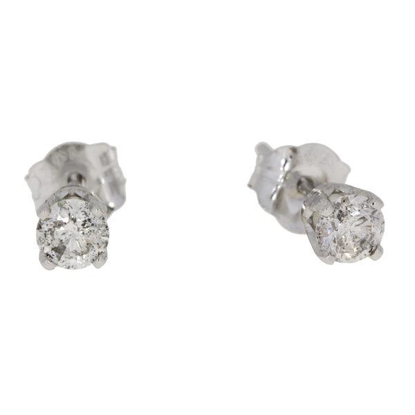 .25 CT Diamond and 14K white gold stud earrings
