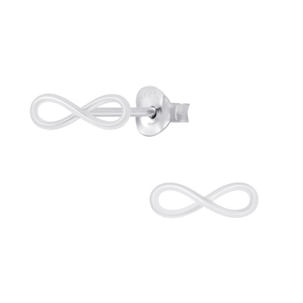 infinity sterling silver post earrings
