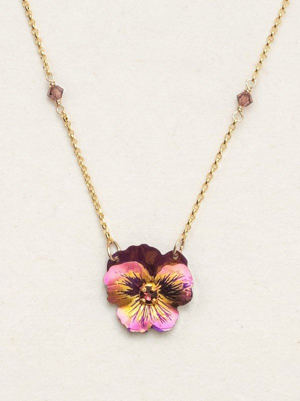 Garden Pansy necklace by Holly Yashi Jewelry