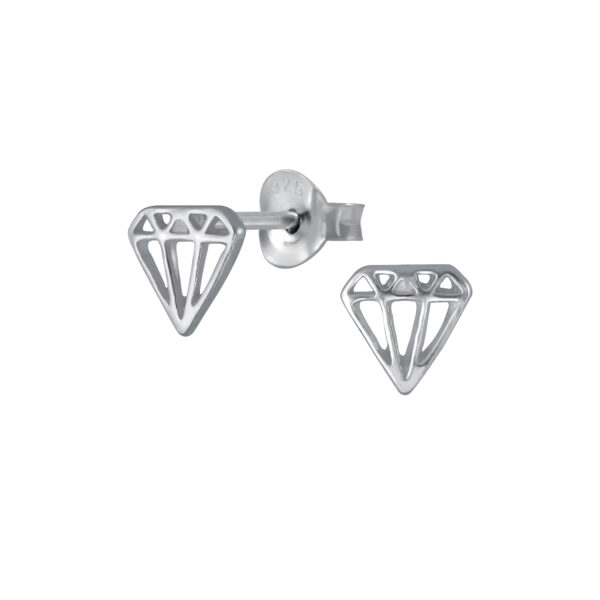 nickel-free sterling silver diamond shape earrings