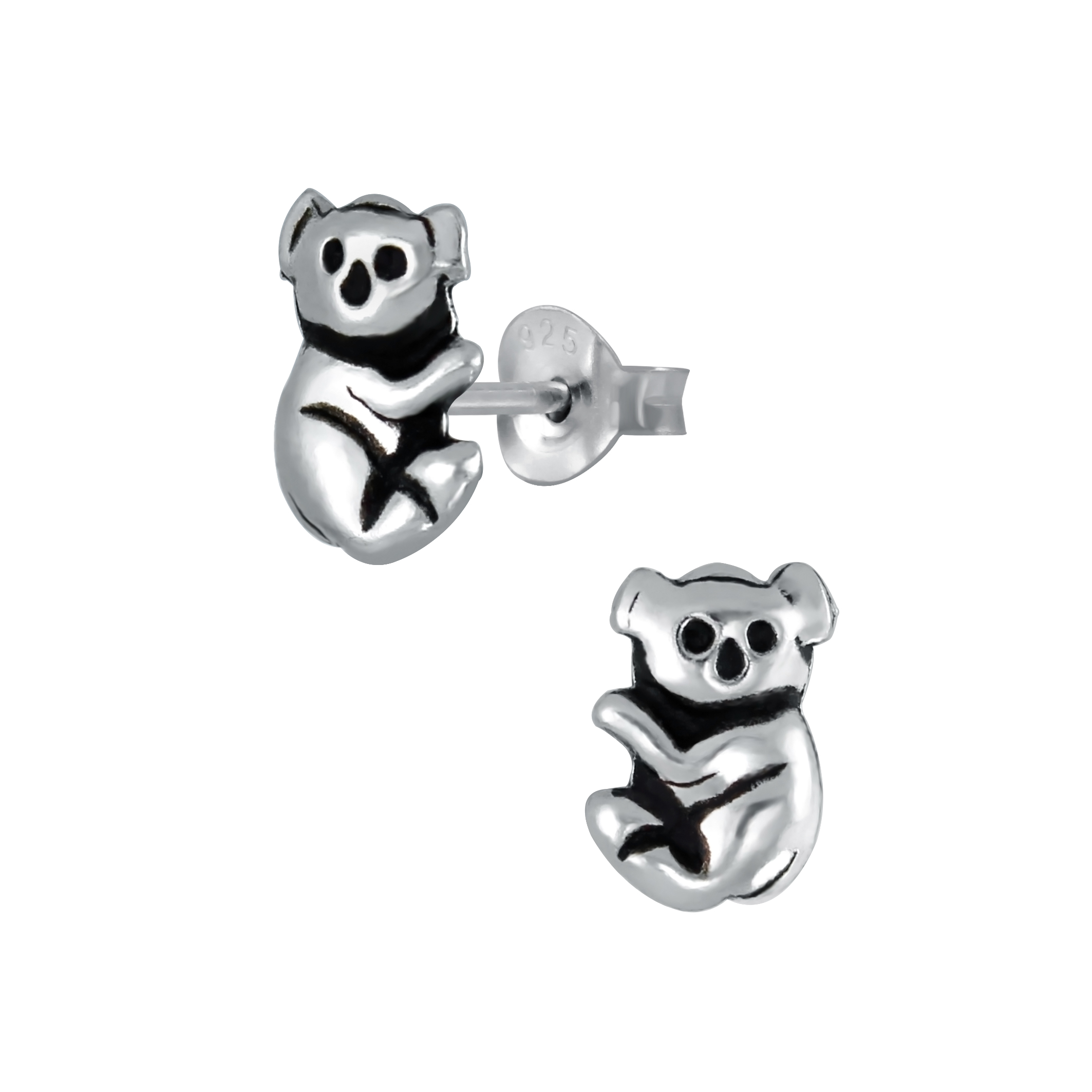 koala sterling silver stud earrings