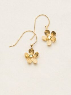Holly Yashi Plumeria flower dangle earrings