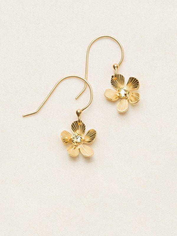 Holly Yashi Plumeria flower dangle earrings