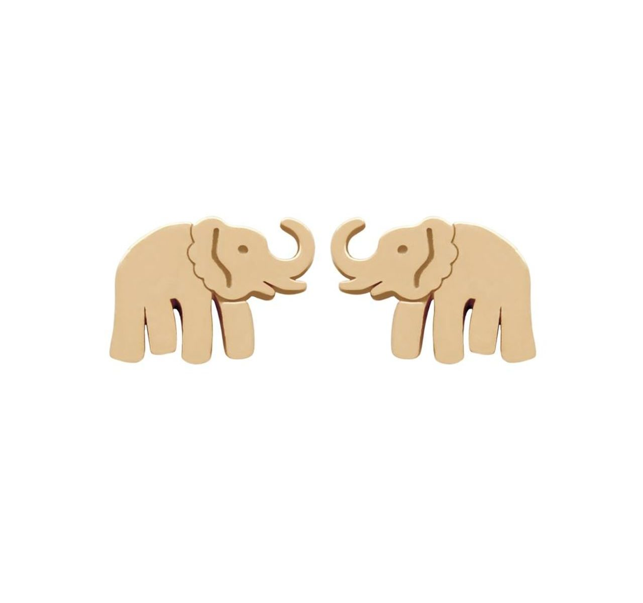 rose gold-plated nickel-free sterling silver elephant stud earrings