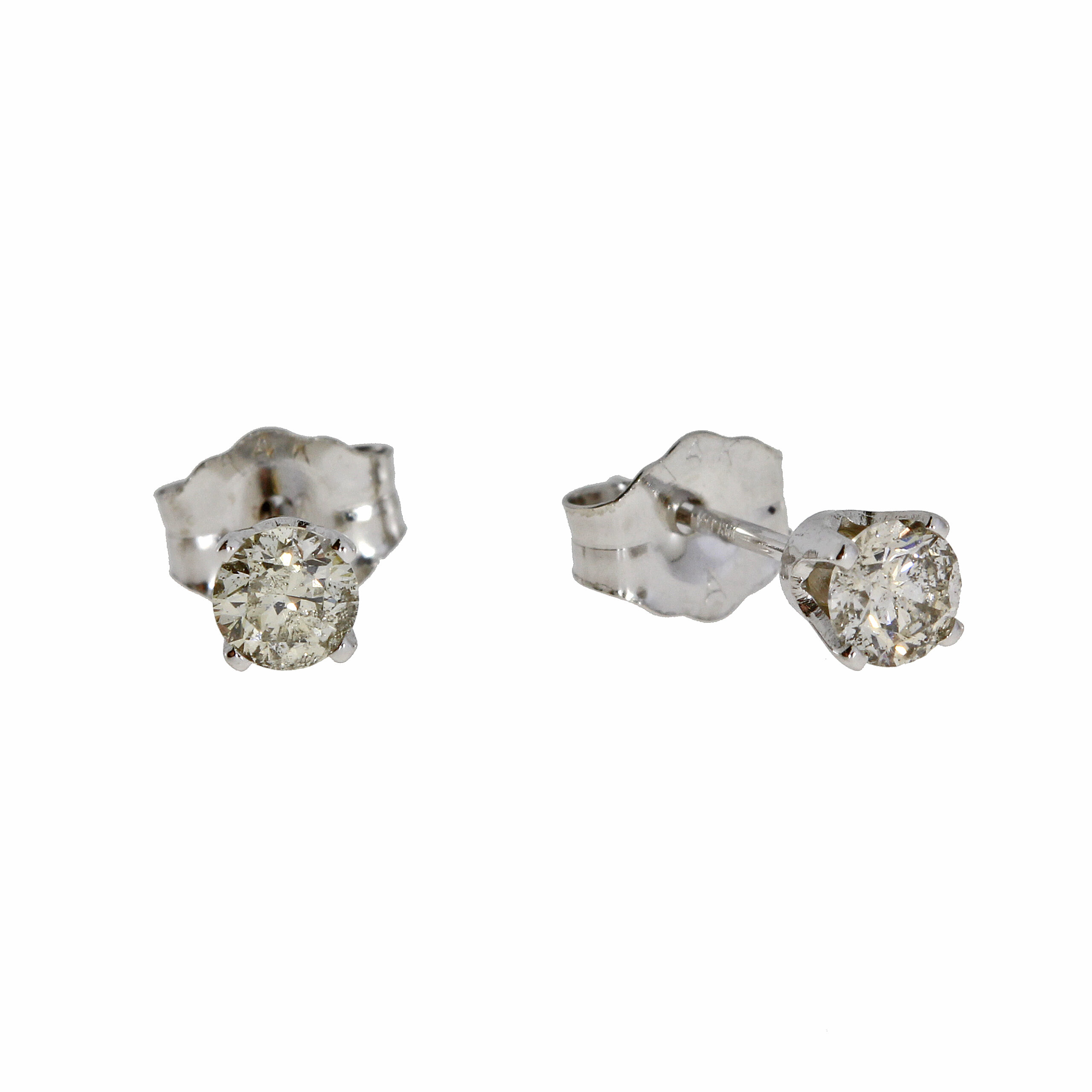 .33 CT diamond and white gold stud earrings