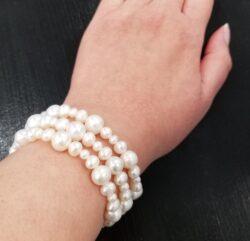 fresh water pearl 3 strand bracelet