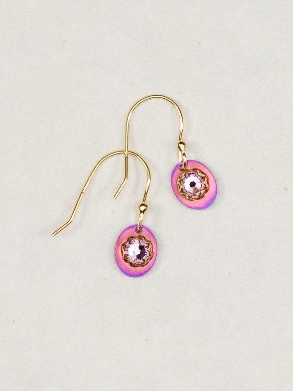 Holly Yashi pink and purple Julia earrings