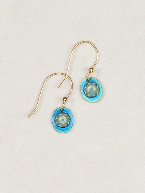 blue Julia earrings by jewelry designer Holly Yashi