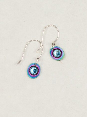 blue and purple petite Julia style earrings by Holly Yashi