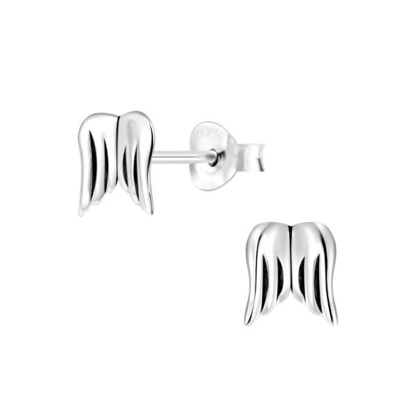 angel wings post earrings